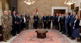 وفد دولي عسكري من الكلية الملكية البريطانية للدراسات الدفاعية زار لبنان