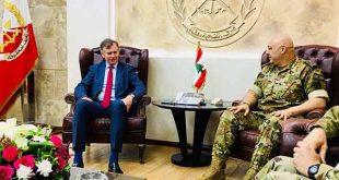 شورتر وريتشارد يبحثان مشروع أمن الحدود مع قائد الجيش اللبناني